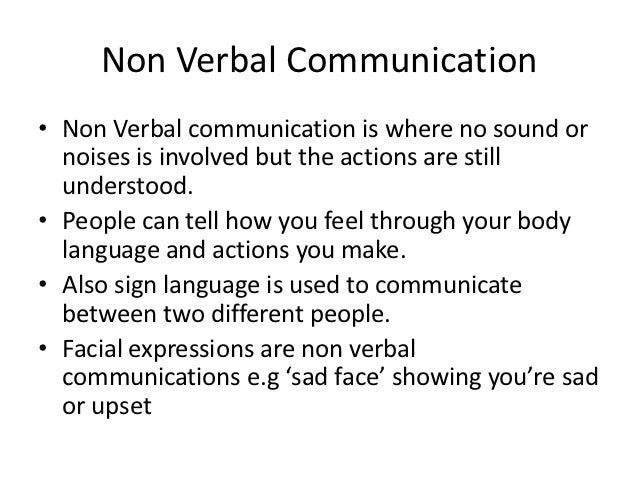 an example of communication skills
