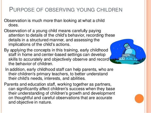 example of jotting observation in childcare