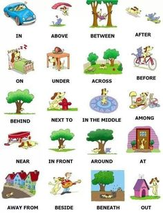 example of preposition and their uses