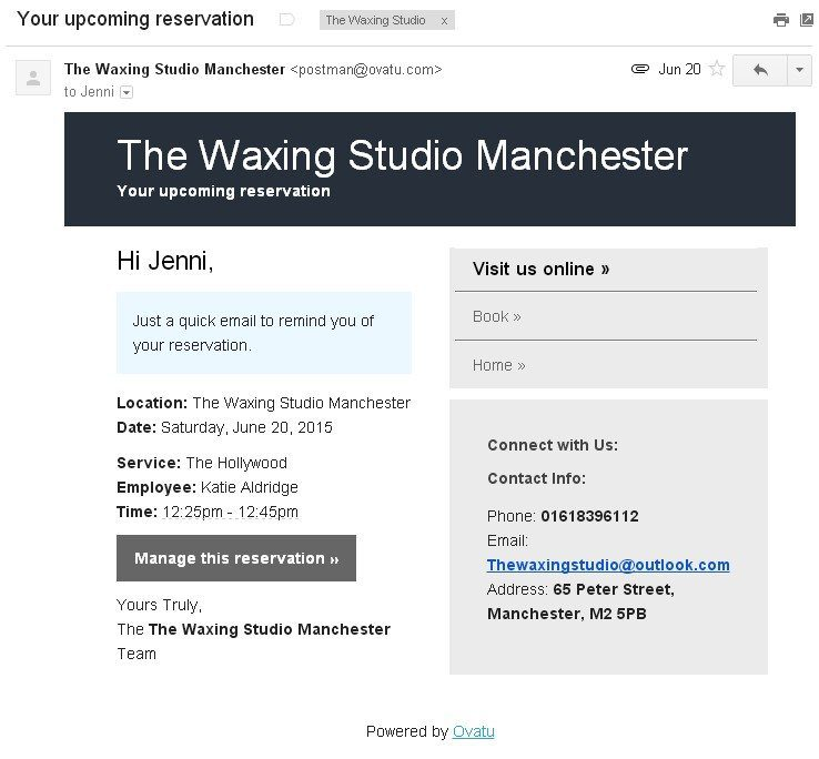 example of booking an apoitment email