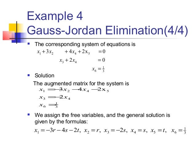 gaussian elimination method example 4x4