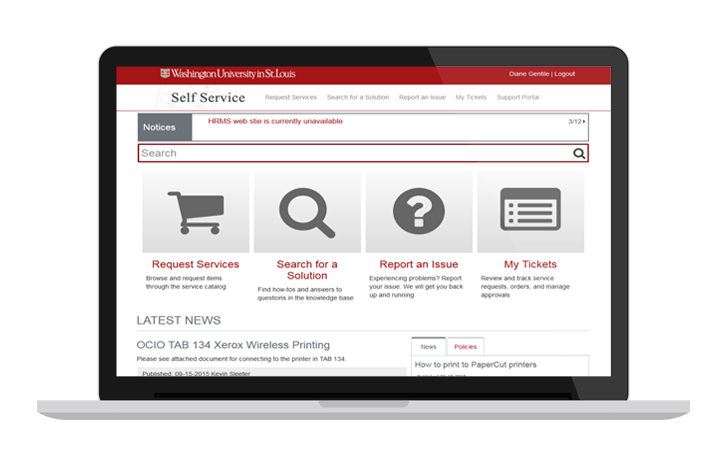 it self service portal example