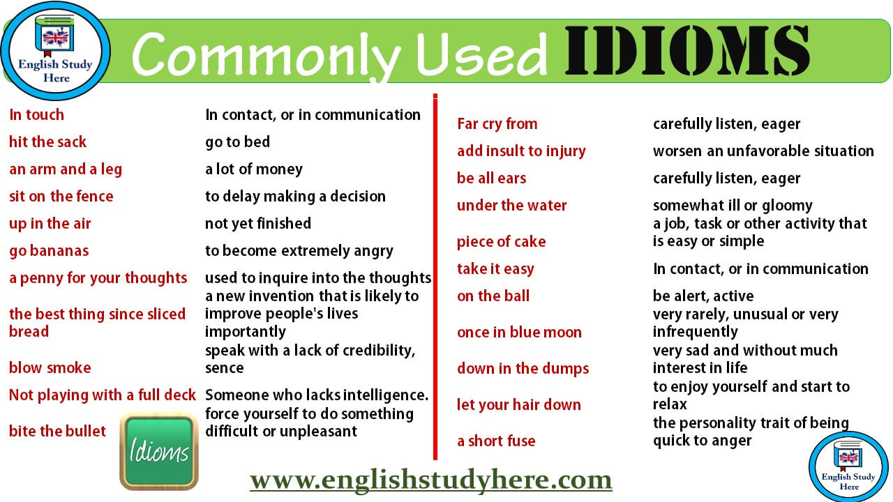 give me an example of an idiom