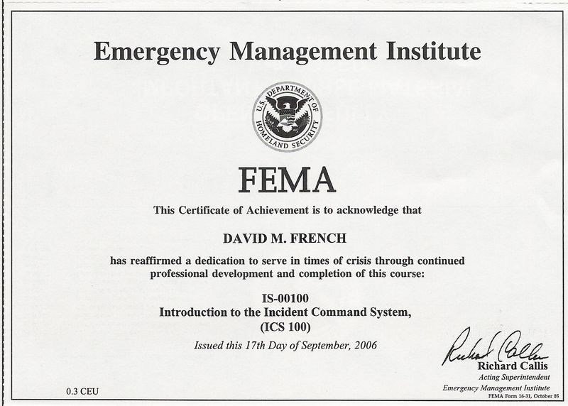example of certificate in proect management
