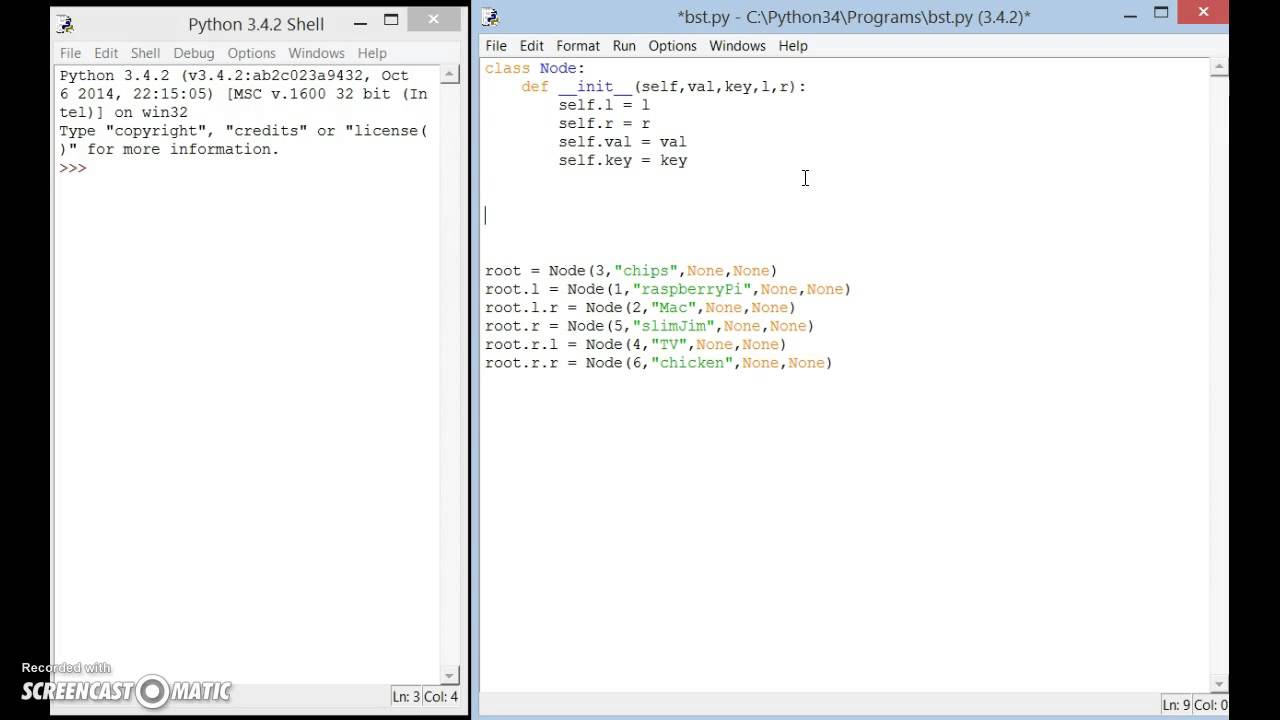 python coded example of binary search