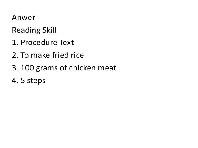 example of procedure text how to make fried rice