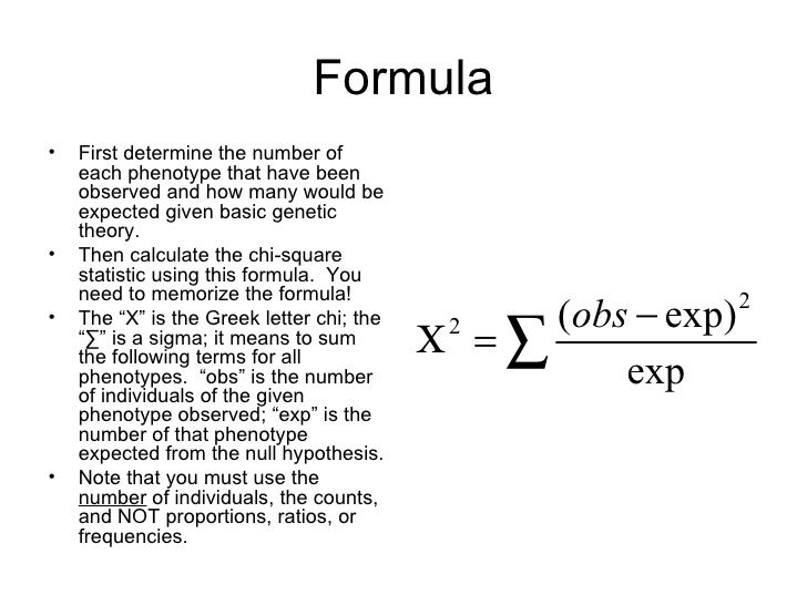 chi square test formula with example