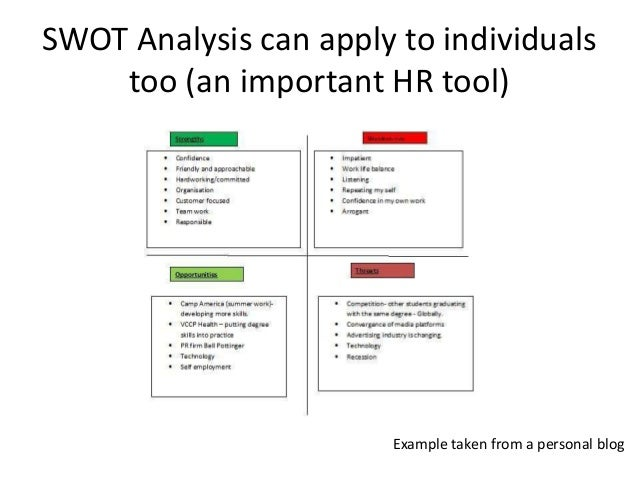 swot analysis example accounting department