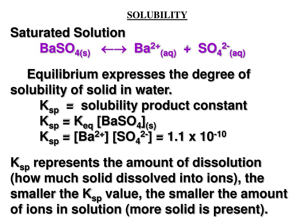 saturated solution example in chemistry