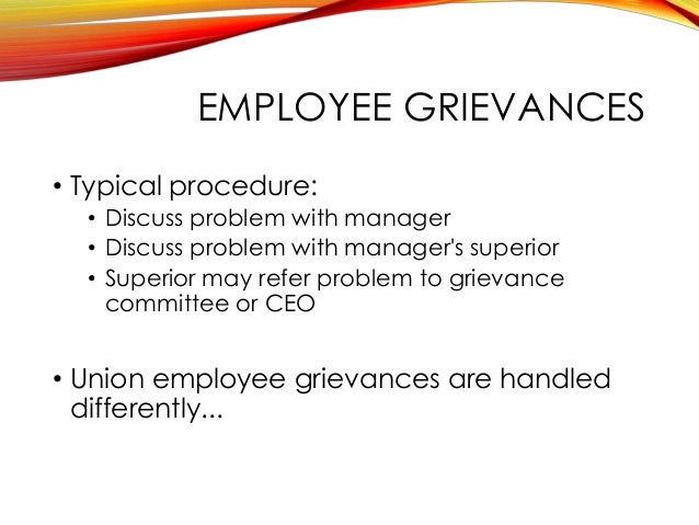 a typical disciplinary procedure example