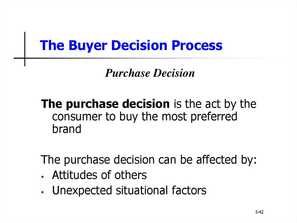 consumer buying decision process example