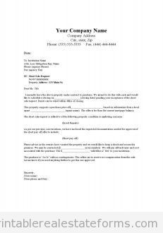 example letter of offer cooling off period