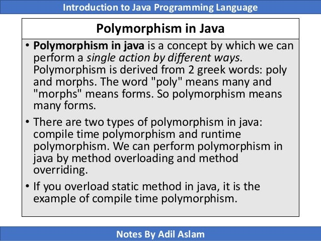 example of runtime polymorphism in java