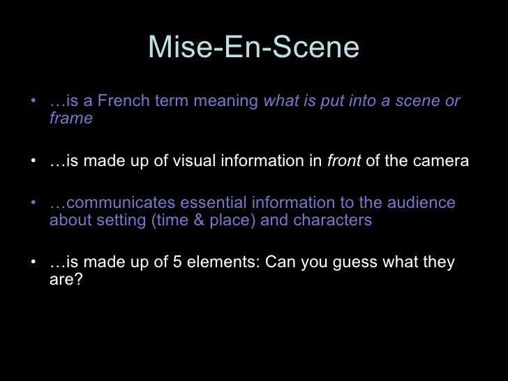 mise en scene definition example