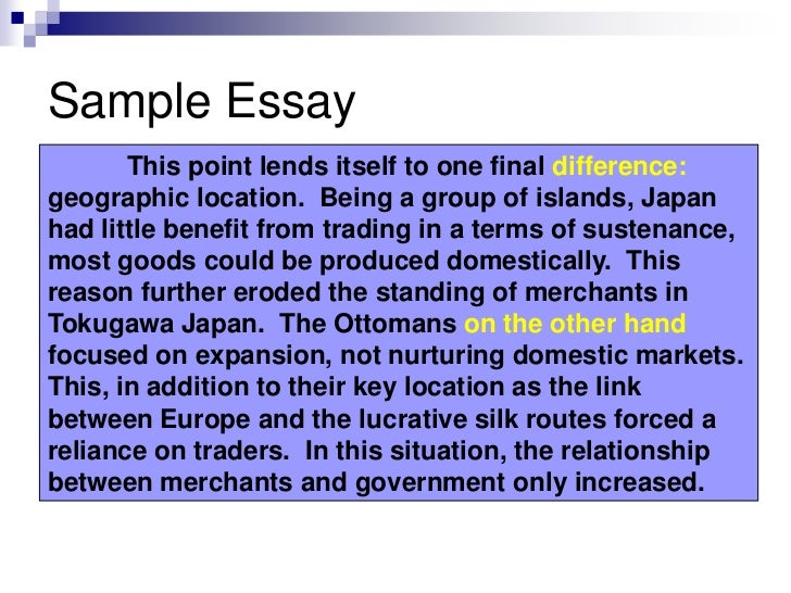 introduction example for a comparative essay