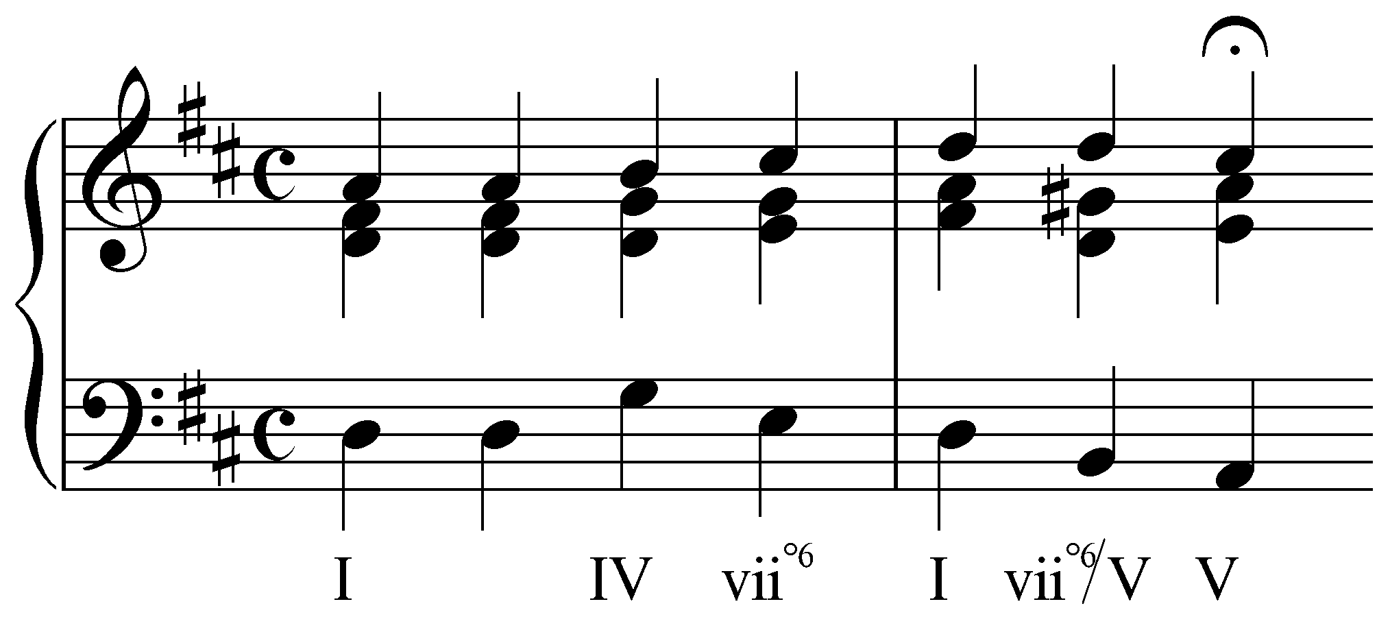 example of a triad in english