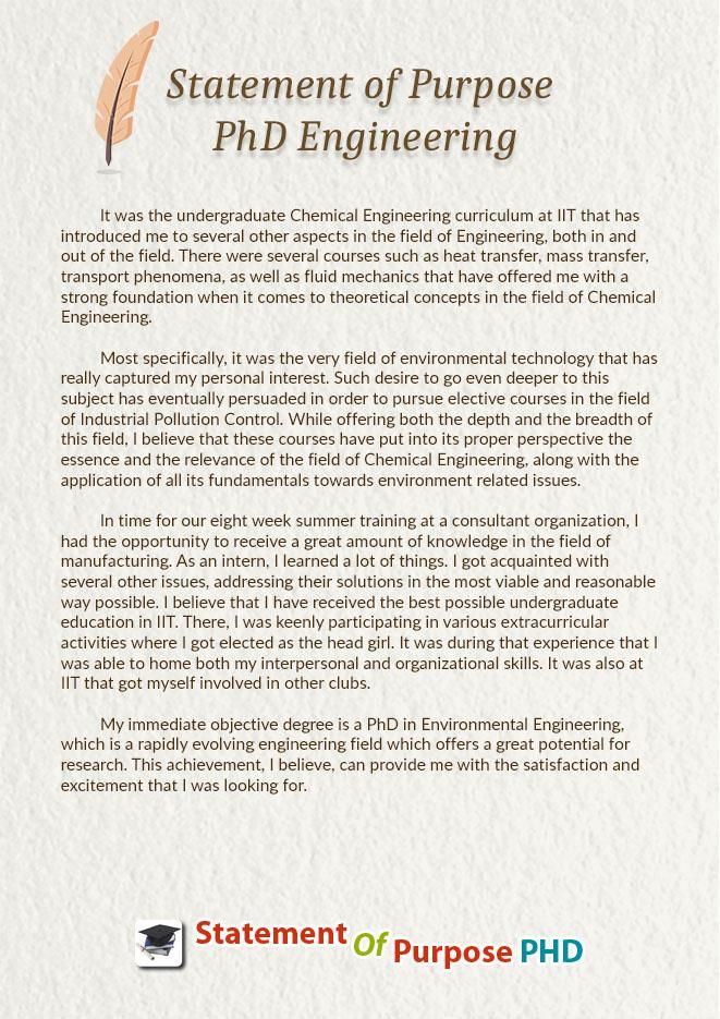 graduate school statement of purpose example engineering