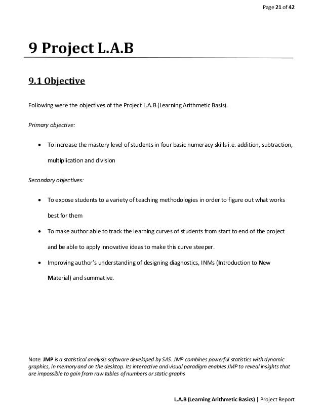 example of introduction in a lab report