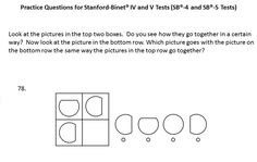stanford binet intelligence test example questions