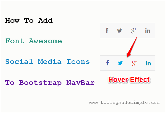 bootstrap search box with icon example