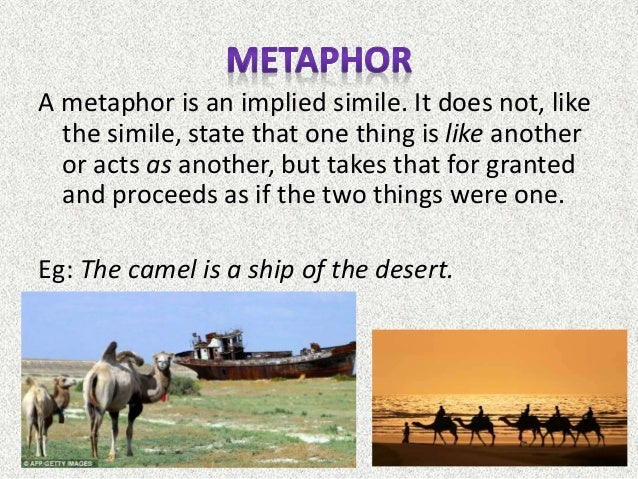 what is a example of a implied metaphor