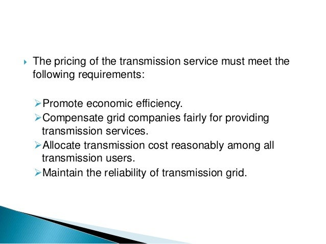 block pricing by electricity companies is an example of