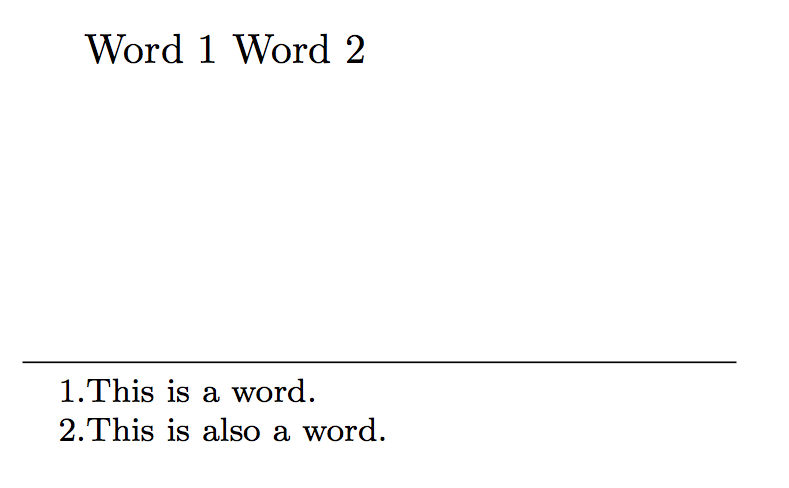 what is a footnote example