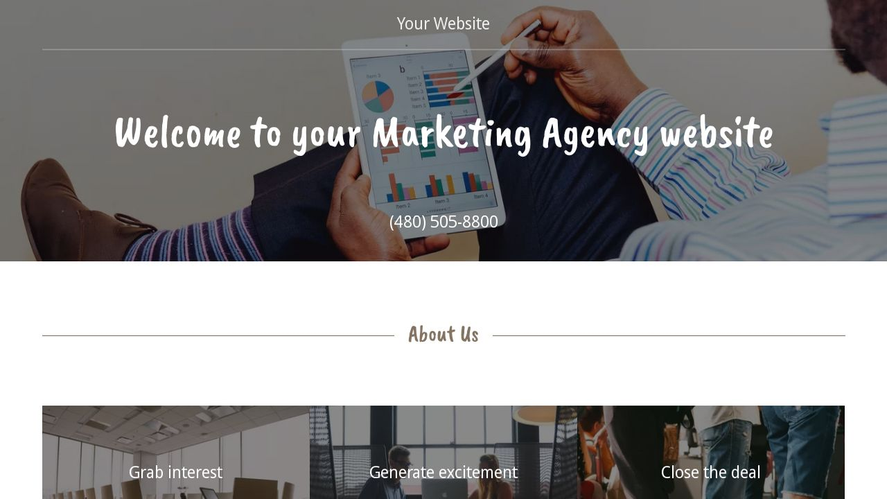 example of a marketing website