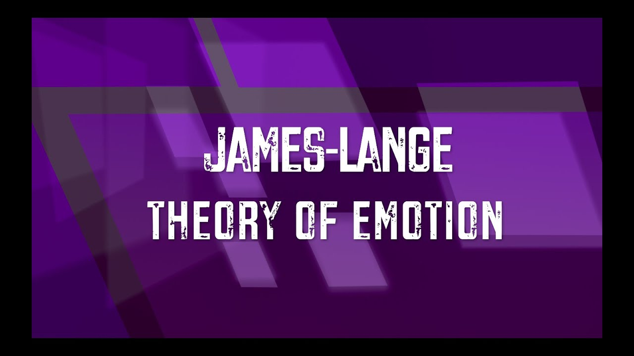 james lange theory of emotion example