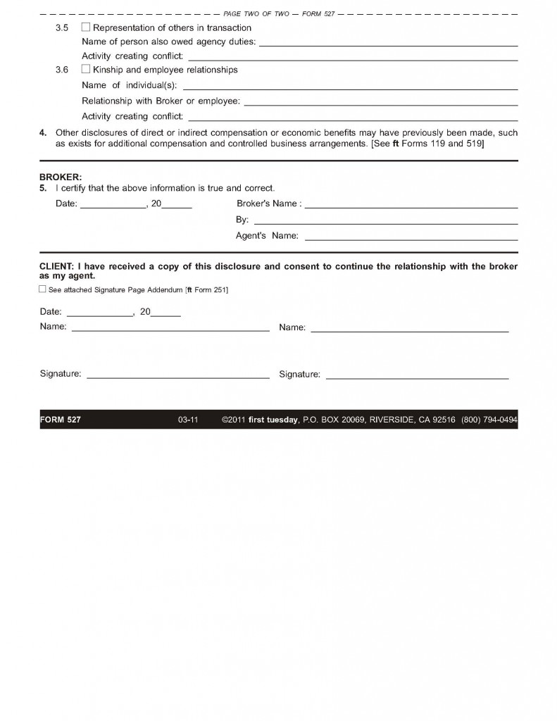 example of completed d8 form