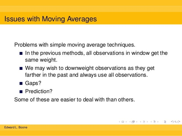 weighted moving average example problems