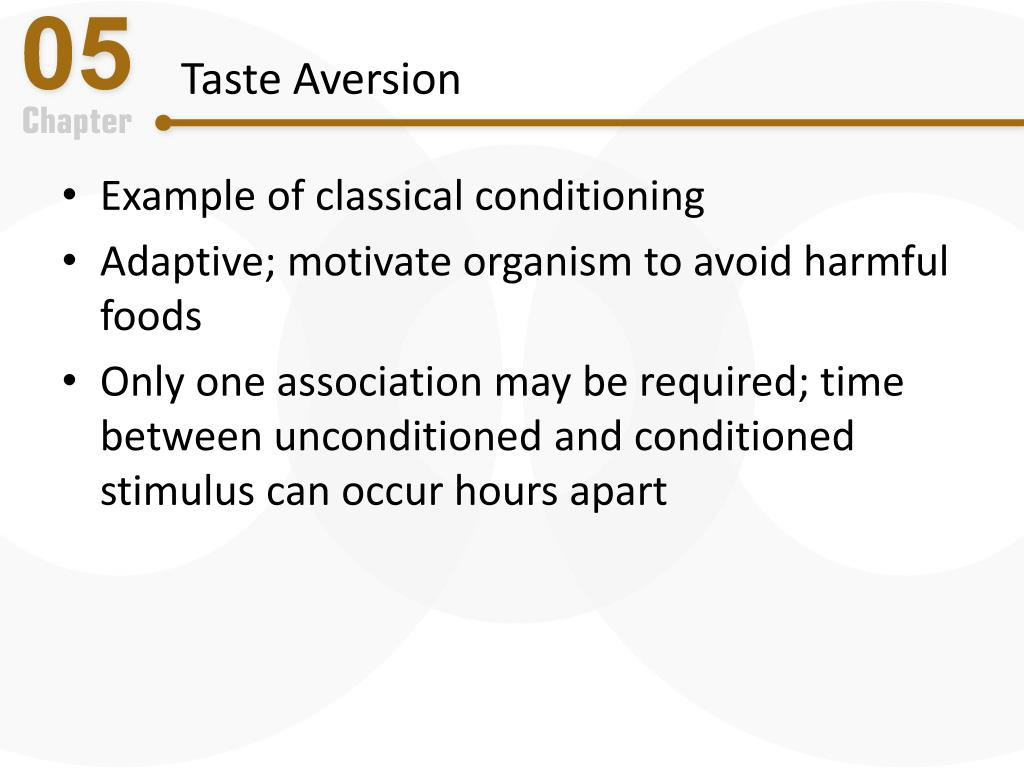 an example of a conditioned taste aversion is quizlet