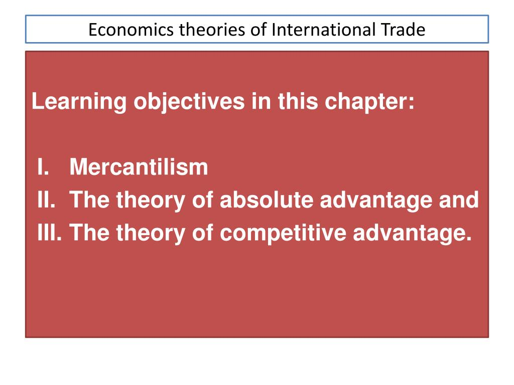 absolute advantage theory of international trade example