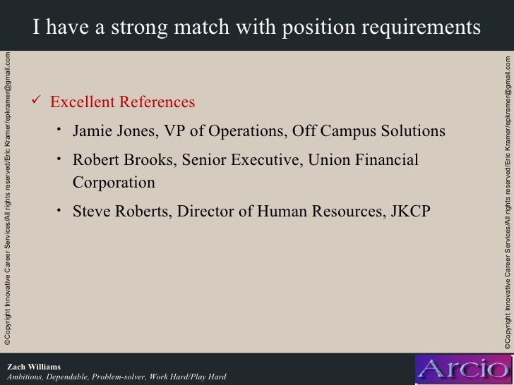 academic job interview presentation example