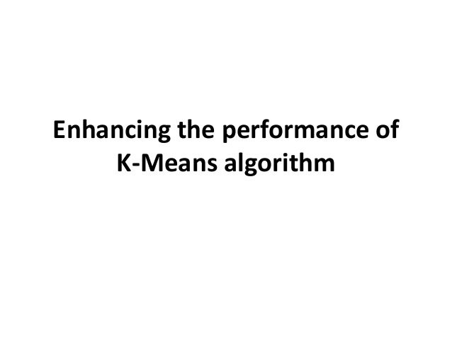 what is k means algorithm with example