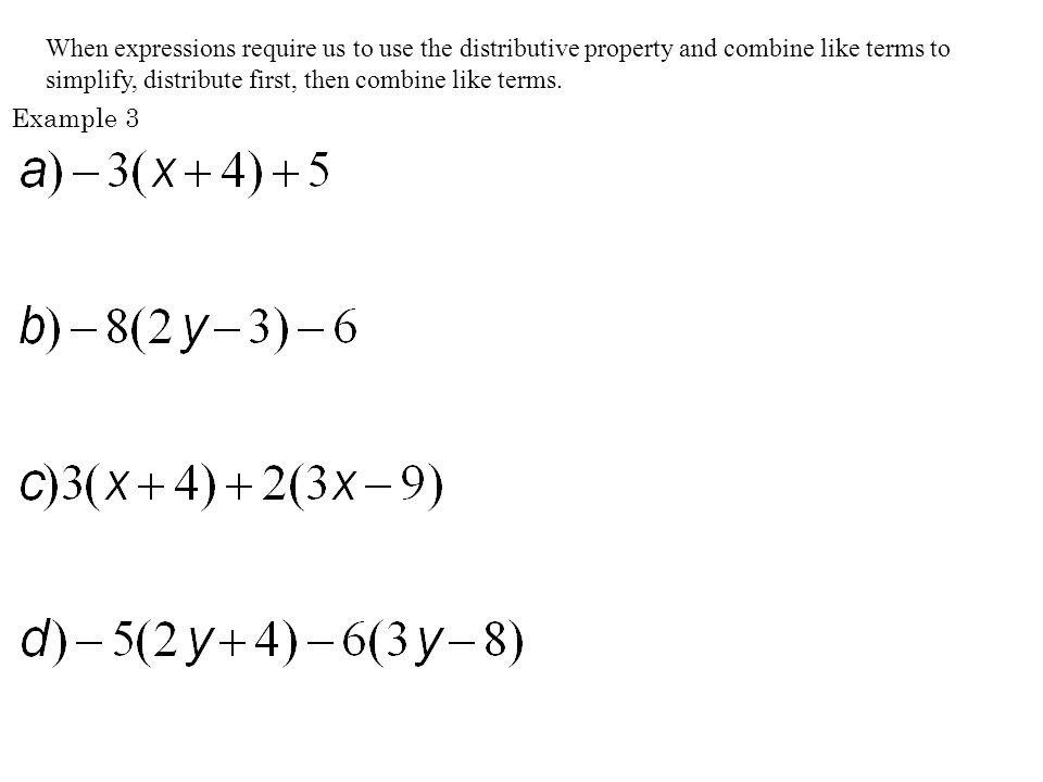 an example of distributive property