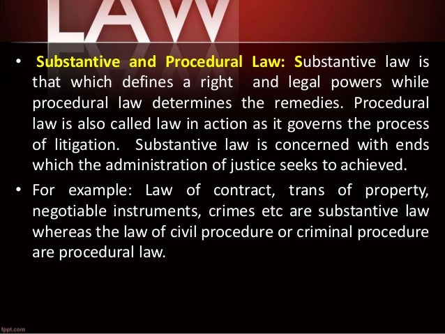 an example of procedural law