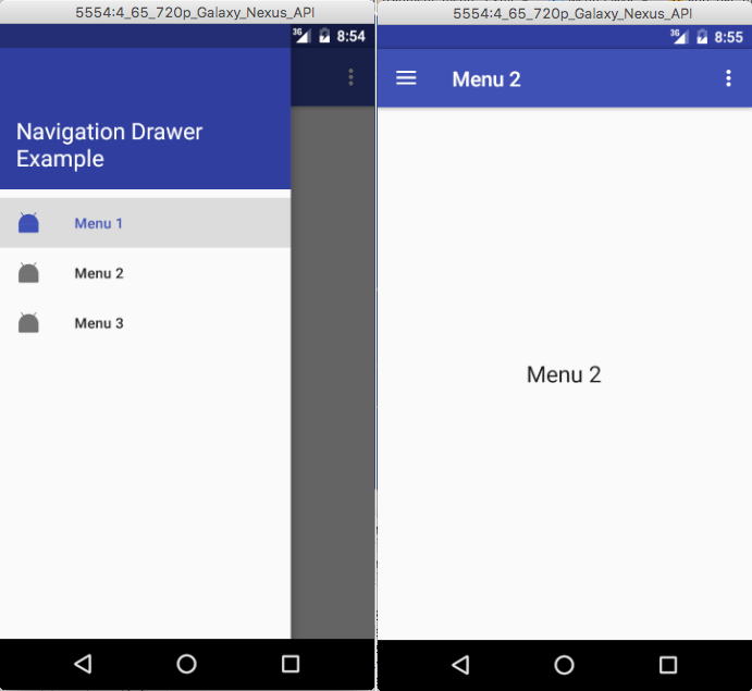 android fragment example source code