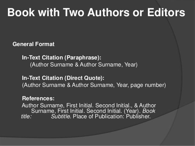 apa reference page book example