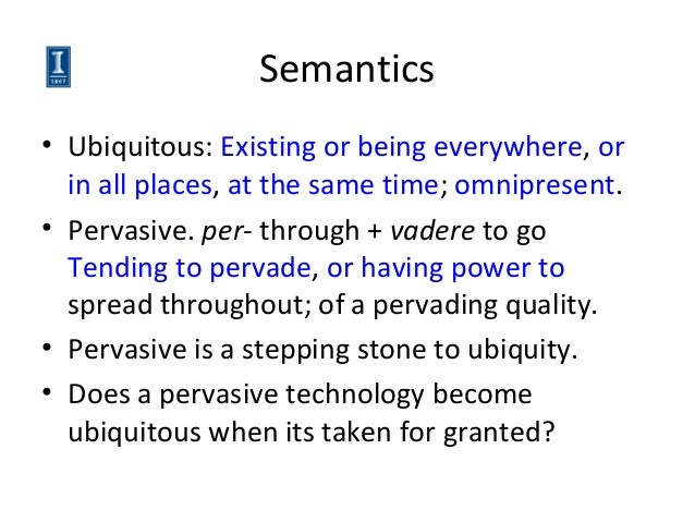 meaning of pervasive computing and example