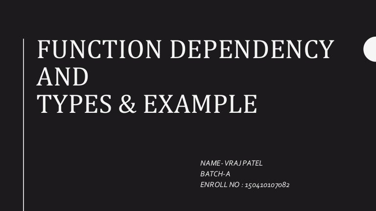 functional dependency in dbms with example ppt