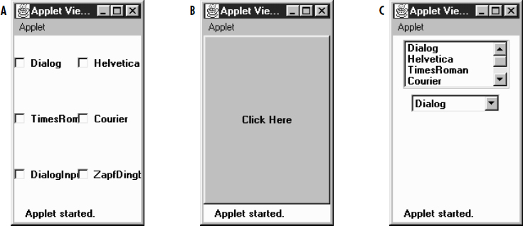 card layout in java awt example