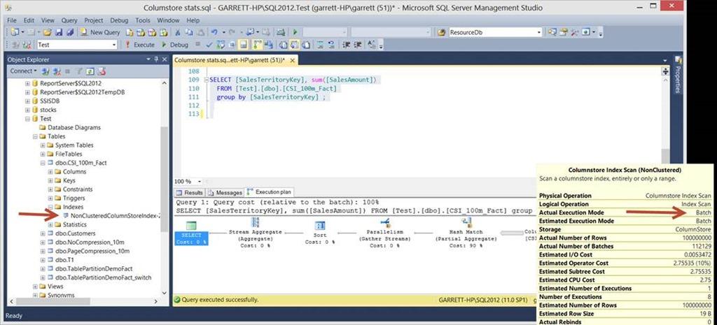 create index example sql server