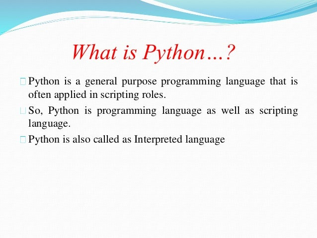 what is python language with example
