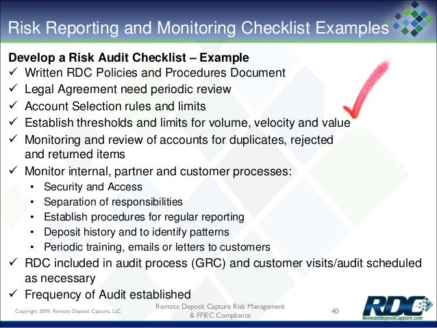 example of a compliance risk