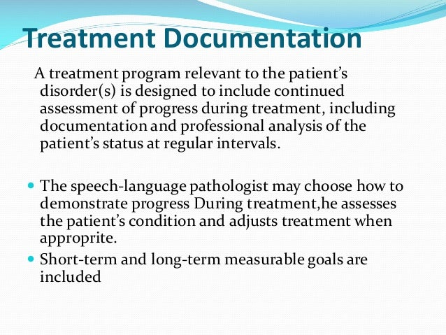example of a multimodal long term goal speech pathology