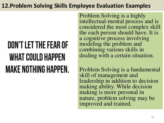 example of a problem solving process