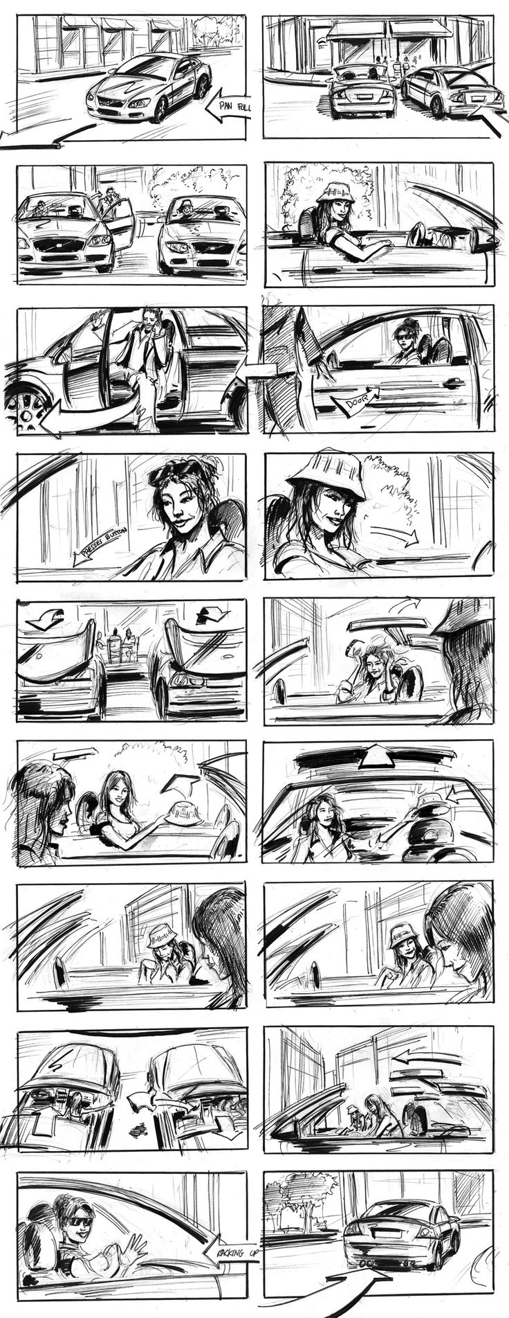 example of a story board drawing