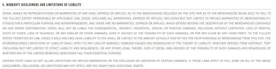 example of an exclusion clause