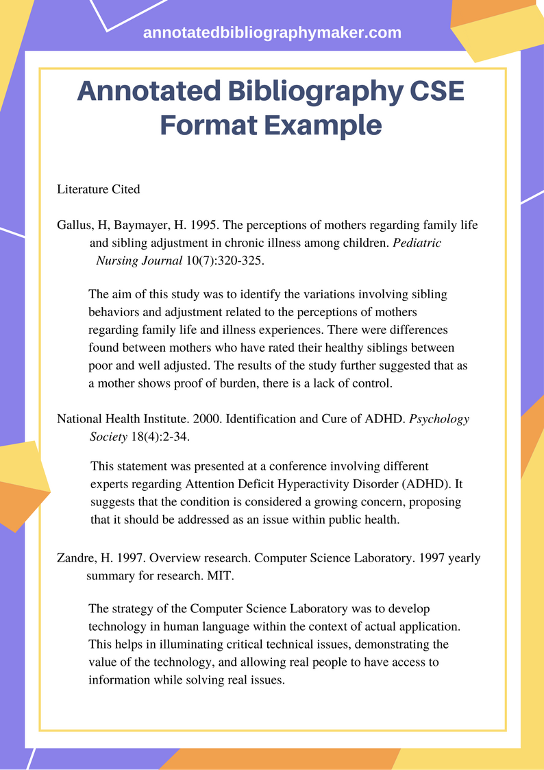 example of bibliography website formats
